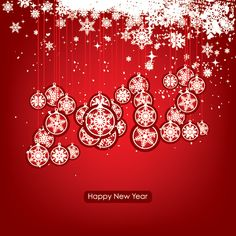 snowflakes on a red background dryicons christmas and new year vectors