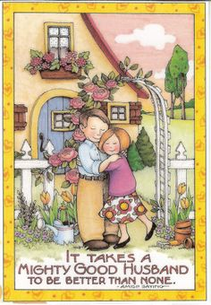 Mighty Good Husband Be Better Than None - Amish - Magnet Mary Engelbreit Art