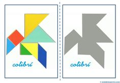 Tangram   Figuras para imprimir online Montessori, Toddler School, The Magicians, Cowboys, Mandala, Techno, Quilts, Learning, Logos