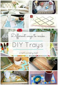 15 Decorative DIY trays for home (tutorials). I NEED to try some of these, probably when I get my own place.