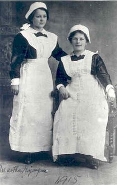 When Finnish women emigrated to North America around the turn of the century, the first jobs they found were often as maids/housekeepers. Even though the wages were low it was a chance for them to learn English which was a primary goal for most of them Finnish Maids 1915 photo credit: Ontario, Canada archives