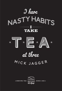 Mick Jagger tea poster-art