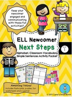 Your newcomer is ready for more! Keep them communicating by learning the elements of writing including our alphabet, and letter sounds. This WIDA aligned packet includes vital classroom vocabulary, flash cards, reference sheets as well as lots of practice with early writing. Also see the ELL Newcomer starter pack.  https://www.teacherspayteachers.com/Product/ELL-Newcomer-No-Prep-Starter-Pack-Booklet-2393242
