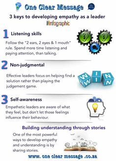 3 keys to developing #empathy as a #leader  #Infographic