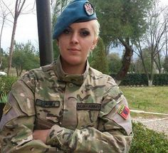 Albanian Military: Albanian Solider. NATO forces. Albanian Culture, Hero World, Military Girl, Female Soldier, Military Women, Military Personnel, Armada, Girls Uniforms, Armed Forces
