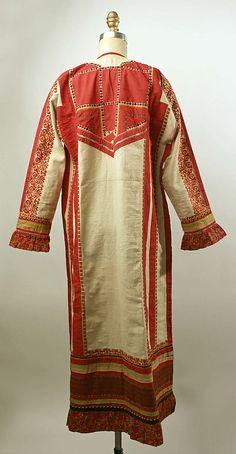 Dress Date: 19th century Culture: Russian Medium: linen, cotton