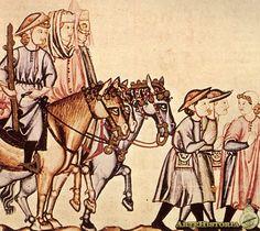 Cantigas de Alfonso X. Escena de la vida cotidiana medieval    Autor:  Fecha: Siglo XIII Museo: Monasterio de San Lorenzo de El Escorial