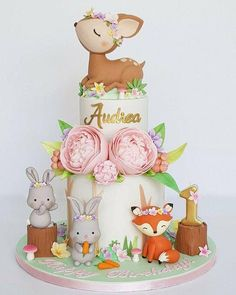 32 Best ideas for baby shower woodland cake birthday parties Baby Birthday Cakes, Girl First Birthday, 1st Birthday Parties, Girl Shower Cake, Torta Baby Shower, Woodland Cake, Woodland Party, Cupcakes Decorados, 1st Birthdays
