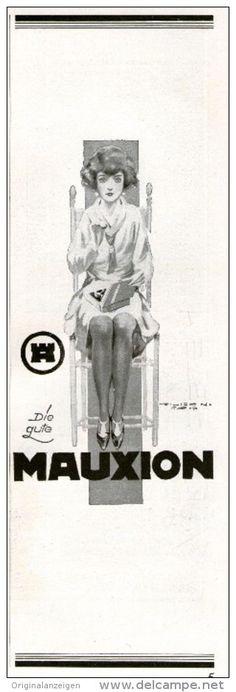 Original-Werbung/ Anzeige 1926 - MAUXION SCHOKOLADE  - ca. 75 x 220 mm