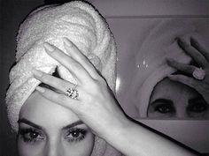 The couple: Kim Kardashian and Kanye West The ring: A 15-carat D, flawless cushion-cut diamond from jeweler Lorraine Schwartz