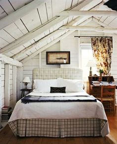 Under the roof - a noble and humble room. Sleep is possible here as it removes one from the world.