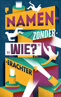 """Editorial illustration for the NRC Mens& part in the NRC Handelsblad. This illustration quotes: 'names-without-""""who?""""-after that'. The article is about three 'fallen' dutch public figures."""
