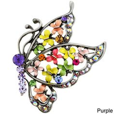 Tanzanite Butterfly Pin Brooch | Overstock™ Shopping - Big Discounts on Brooches & Pins