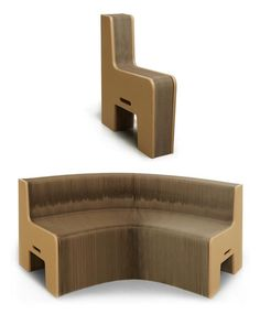 """thedailywhat:    Fold-Out Chair of the Day: """"FlexibleLove"""" by Chishen Chiu.  From selfish chair to love seat in two seconds flat.  Made from recycled cardboard paper. Demo video here.  [ignant.]    YOOOOOOOOO. I definitely needa get one of these!"""