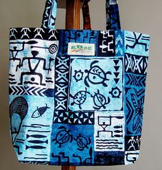 Mother's Day gift idea. Unique Hawaiian reusable bag. Sturdy and large canvas tote with Tropical motif. 5 year warranty. On sale by gBagHawaii on Etsy