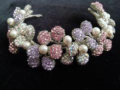 Bridal Tiara Rose Gold Purple. Wedding Tiara. by DesignByIrenne