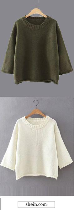 Cozy drop shoulder jumper.