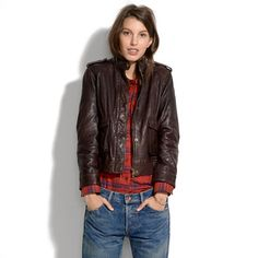 Madewell - Modern Leather Bomber... you know, in case I have an extra $600 to spend on a jacket.