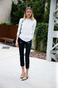 flat mules outfit