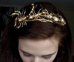 Gilded Invertebrate Crowns - The Golden Insect Tiara Turns Bugs into Hair Decor (GALLERY)