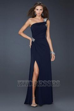 7f507749736 A-Line Princess One Shoulder Chiffon Evening Dress - IZIDRESSES.COM at  IZIDRESSES