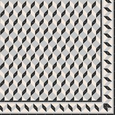 Create your own Art Deco inspired pattern like this one, which was made using invididual square and triangle tiles from the Victorian Floor Tiles Collection by Original Style.