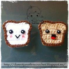damn it Janet, let's crochet!: Toasted Bread Slice Appliqué