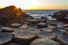 La puesta de sol desde la calzada del gigante, qué más se puede pedir