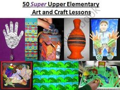 50 Super Upper Elementary Art Lessons from The Art Teacher on TeachersNotebook.com (51 pages)  - This PowerPoint presentation shows 50 new, tried and true art lessons that Ive used over the years. Youll find everything from drawing and painting, to printmaking, paper crafts, working with clay and more. Each page shows one or more examples