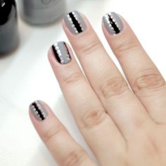 Orly Shares Their Tutorial for Gray and Black Matte Glossy Nails