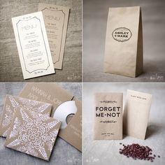 great and simple wedding paper collateral from Magpie Paperworks