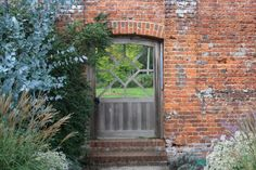 Marks Hall, Essex, garden gate in wall