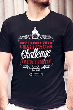 """Challenge Your Limits"" Tee by GYMRATED™"