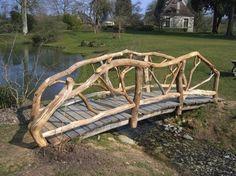 Side Garden, Garden Trellis, Garden Art, Pond Bridge, Garden Bridge, Farm Pond, Natural Playground, Ponds Backyard, Fantasy Landscape