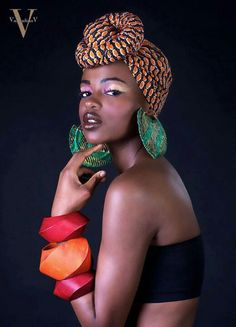 Head wrap. You go girl!! The only thing that comes to my mind is Mother Africa!!