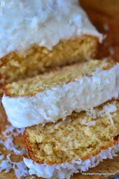 Triple Coconut Pound Cake. coconutyum, pound cakes, cupcak, desert, coconuts, bread, bake, tripl coconut, coconut pound