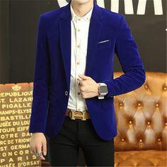 Blue Velvet Blazer Men Blazer Burgundy Masculino Men Black Blazer Designs Mens Velvet Jacket Slim Fit Men Jacket