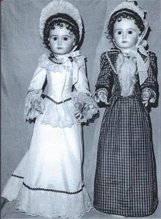 "25""ANTIQUE FRENCH FASHION LADY DOLL DRESS VARIATIONS&HAT&UNDERWEAR&SHOES PATTERN"