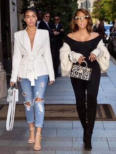 Mother and daugther slay! Lori Harvey and Marjorie Harvey looked stunning on the streets of Paris during Paris Fashion Week