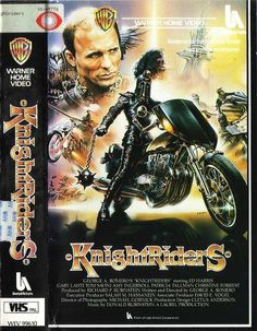 Knightriders Wasteland/Wierdness -----One of the strangest films ever created Fantasy Movies, Sci Fi Movies, Old Movies, Vintage Movies, Creepy Movies, Horror Posters, Movie Posters, Tom Savini, Adventure Movies