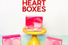 Easy Heart Boxes with Secret Hearts Inside - Free Pattern and Tutorial, cut by hand or on a Cricut cutting machine Craft Room Tables, Ikea Craft Room, Ribbon Storage, Diy Ribbon, Craft Paint Storage, Diy Rack, Rainbow Card, Cricut Tutorials, Diy Face Mask