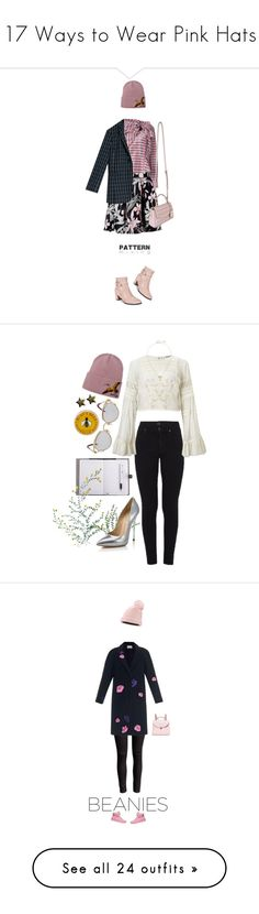 """""""17 Ways to Wear Pink Hats"""" by polyvore-editorial ❤ liked on Polyvore featuring waystowear, pinkhats, Isabel Marant, Max&Co., Impo, MICHAEL Michael Kors, Dsquared2, patternmixing, Citizens of Humanity and Miss Selfridge"""
