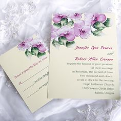elegant purple morning glory affordable flower wedding invitation cards EWI143 as low as $0.94