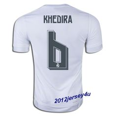 a0df55e65 Sami Khedira  6 Real Madrid 15 16 Home Jersey Soccer Jerseys