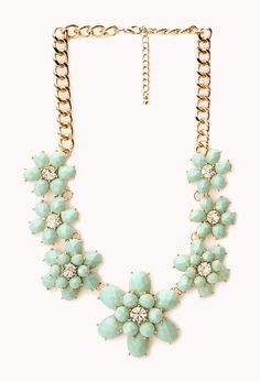 Fancy Floral Bib Necklace | FOREVER21 You can never have too many accessories #Necklace #Mint #Floral - http://AmericasMall.com/categories/juniors-teens.html