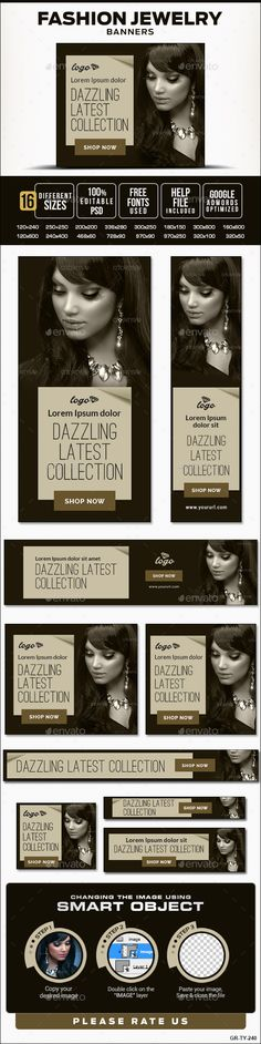 Fashion Jewelry Banners Template PSD | Buy and Download: http://graphicriver.net/item/fashion-jewelry-banners/10070984?ref=ksioks
