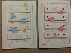 Lesley's Stampin Ground : Baby cards