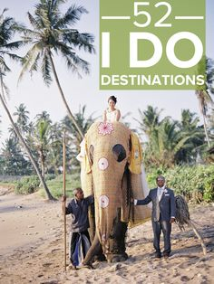 "Destination weddings do not always have to be the typical ""beach"" theme. Check out this article for some amazing spots to consider tying the knot!  Next stop, destination wedding! Visit http://www.brides-book.com for more great wedding resources"