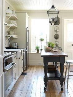 pinterest farmhouse kitchen ideas | Same table, different angle. (p.s. love the light fixture!)