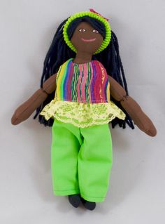 African American Dress Up Doll  Handmade Kids Toy by JoellesDolls